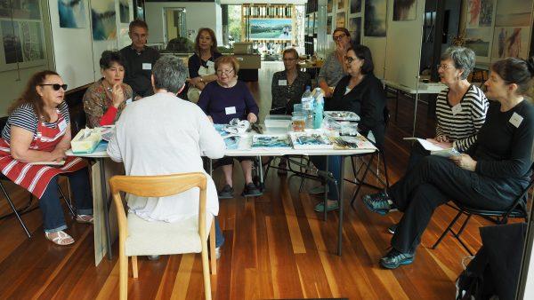 Workshoppers Listening Avidly