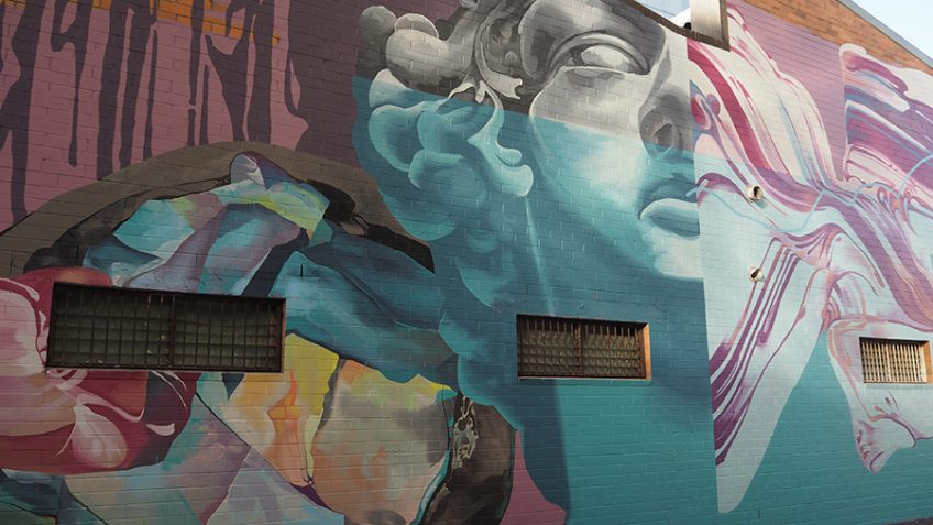 @brisbanestreetart has come to our end of Fish Lane! :D