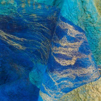 Silk and Australian Merino Hand Felted Shawl – SOLD