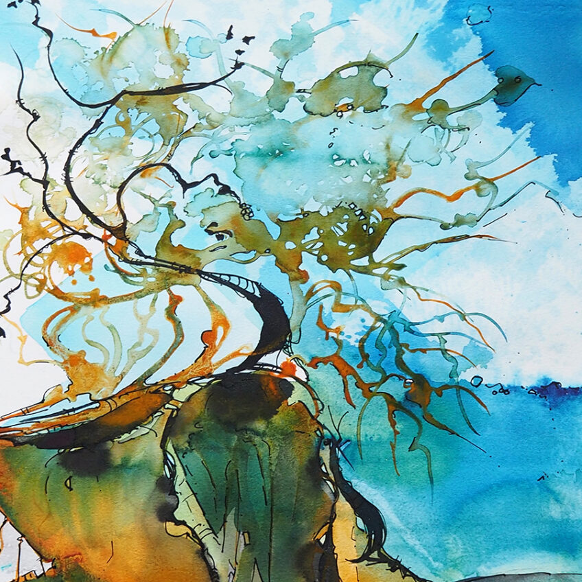 3hrs Introductory Watercolour – at Eckersley's on the Gold Coast – Textures in the Landscapes 24th April 2021 – Paint with Artist – Wyn Vogel