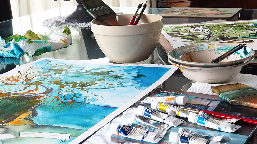 Work on the Studio Table I