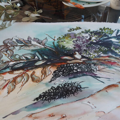 Auction In Support of the Bush Fire Appeal – Watercolour – The Bush Florist – Artist Wyn Vogel