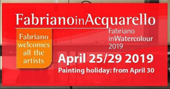 2019 Dates Have Been Released for the  next FabrianoInAcquarello – Italy 🌞