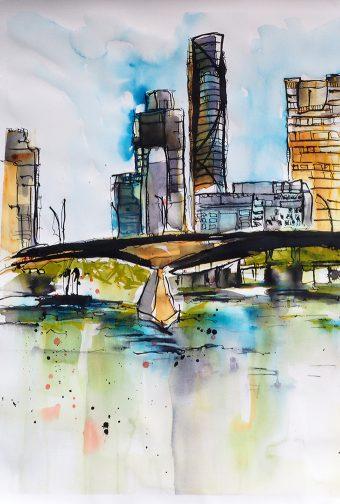 Why Do Artists Head Out to Paint Plein Air – PolArt – Fun On The Brisbane River – Dec '18