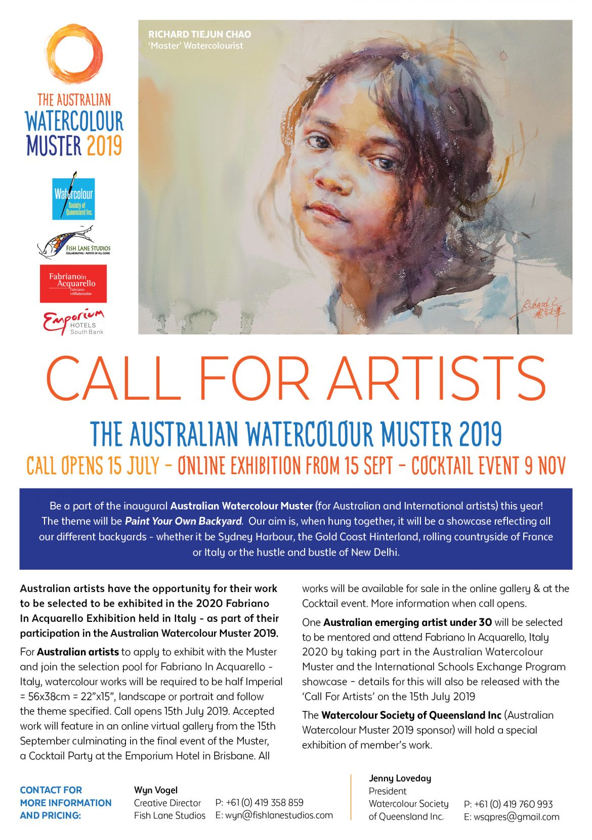 DATE HOLDER – The Australian Watercolour Muster – 2019 ………. read all about it