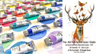 Free Mini-Trade Day – 8th November – at the Australian Watercolour Muster – 2019