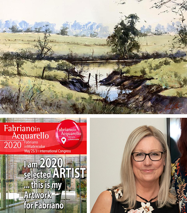 Our Aussie Paintings Are On Their Way to Italy – FabrianoInAcquarello – May 2020