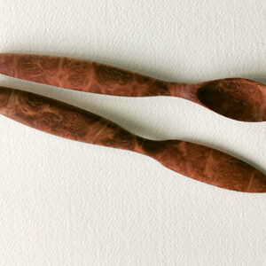 Red Malley Burl – Knife and Spoon Set I