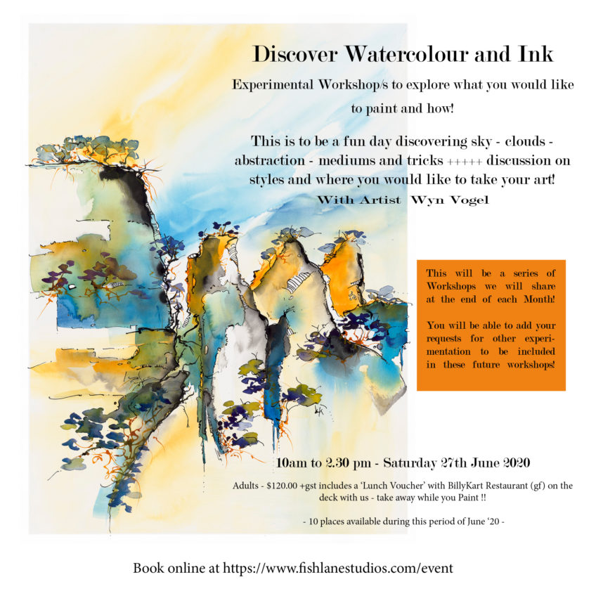 Picnic and Paint Day On The Deck – Discover Water and Ink