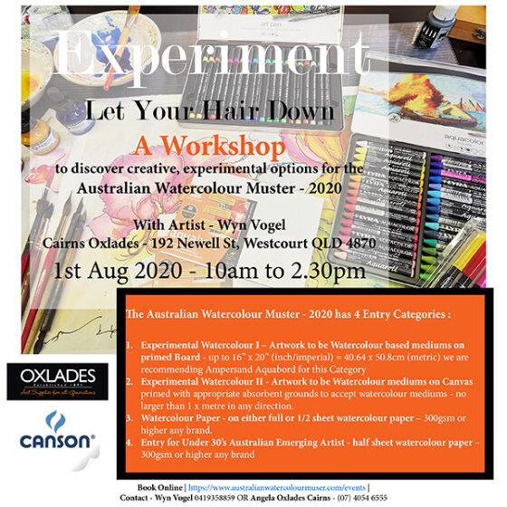 Cairns – Experimental Workshop – The Australian Watercolour Muster – 2020