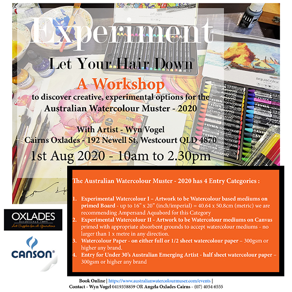 Cairns – Experimental Workshop – The Australian Watercolour Muster – 2020