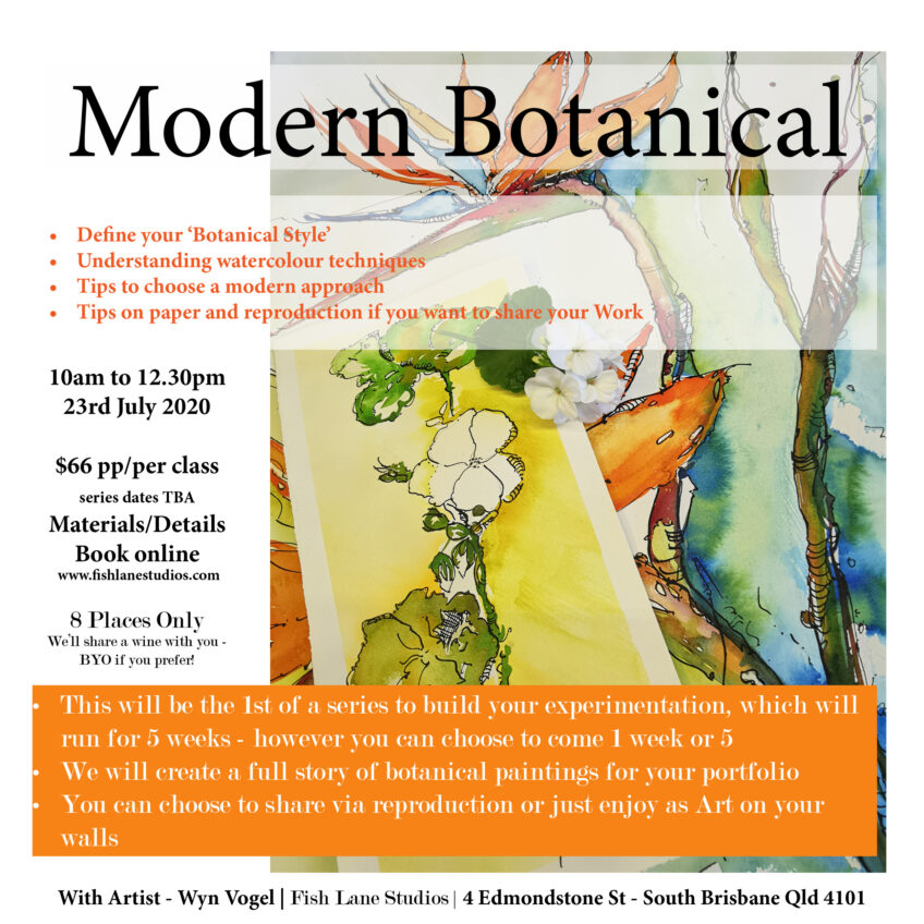 Modern Botanical – 1st of 5 Workshops