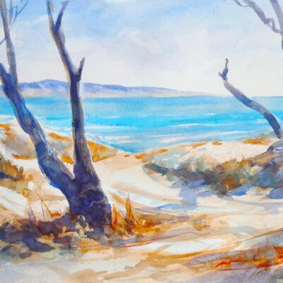 North Shorescape – Artist Tony Walker – Watercolour