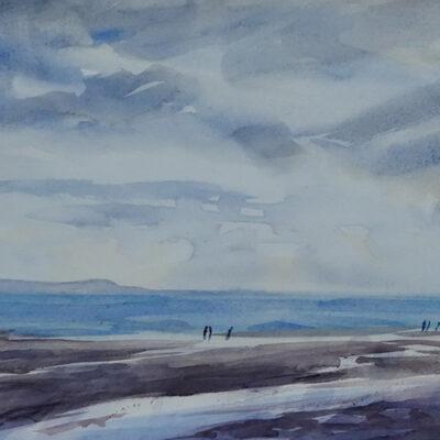 Nudgee Beach Early – Artist Tony Walker – Watercolour