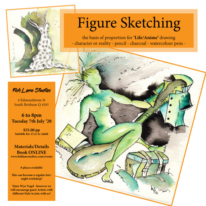Sketching and Figure Drawing – the basis of 'Life' drawing or 'Anime' sketching