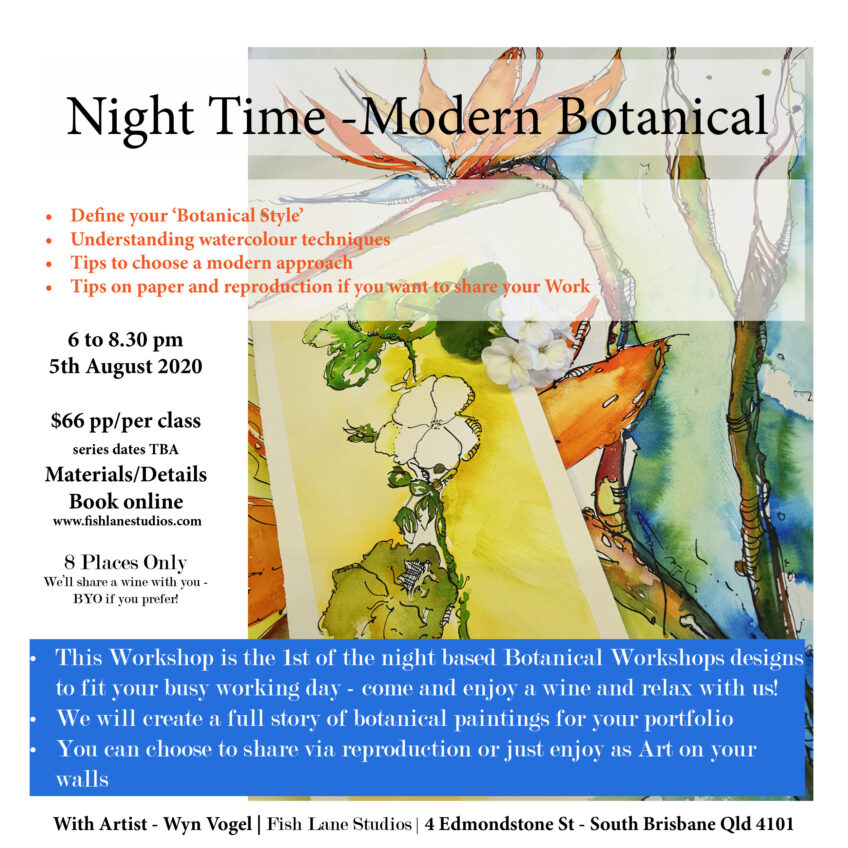 A Night Time – Modern Botanical Watercolour Workshop