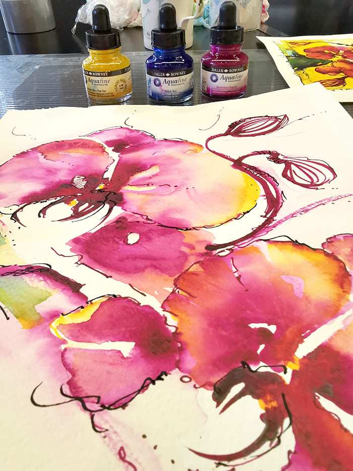 Experimental Workshops – intriguing us to push the boundaries of Watercolour!