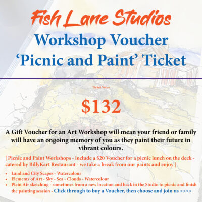 Gift Voucher – Picnic and Paint on the Deck – Fish Lane Studios