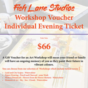 Gift Voucher – Evening Workshop on the Deck – Fish Lane Studios