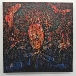 18 – Big Wet – 61 x 61cm mixed media on Canvas – Artist  Andre van der Kerkhoff