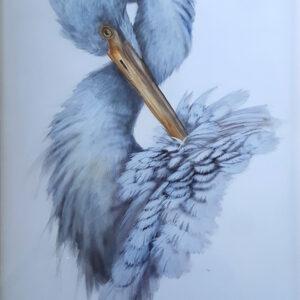 12. Great Egret – Artist Paul Margocsy – Framed on Board