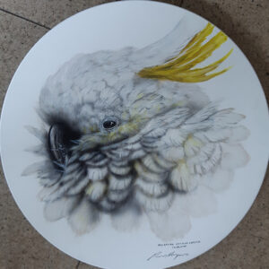 25. Sulphur Crested Cockatoo – Round Board – Artist Paul Margocsy