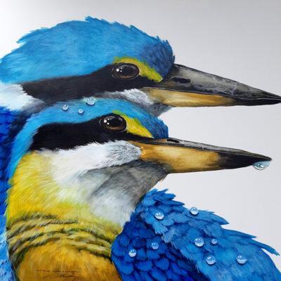 2. Sacred Kingfishers – Artist Paul Margocsy – Canvas