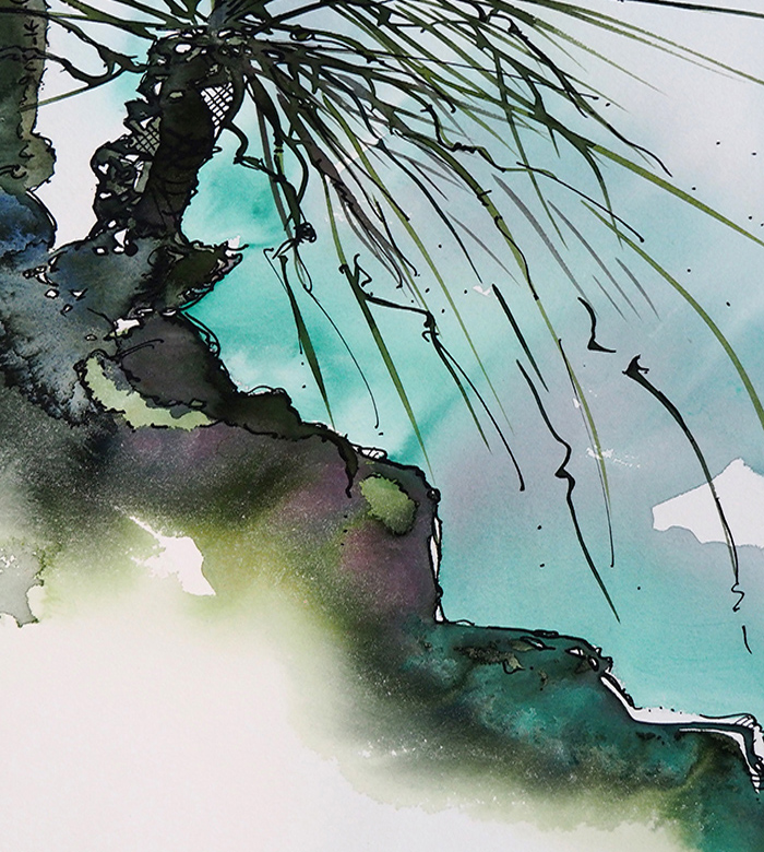 Rocks and Lichen – Picnic and Paint on the Fish Lane Studios Deck Brisbane – with Artist Wyn Vogel – 27 March 2021