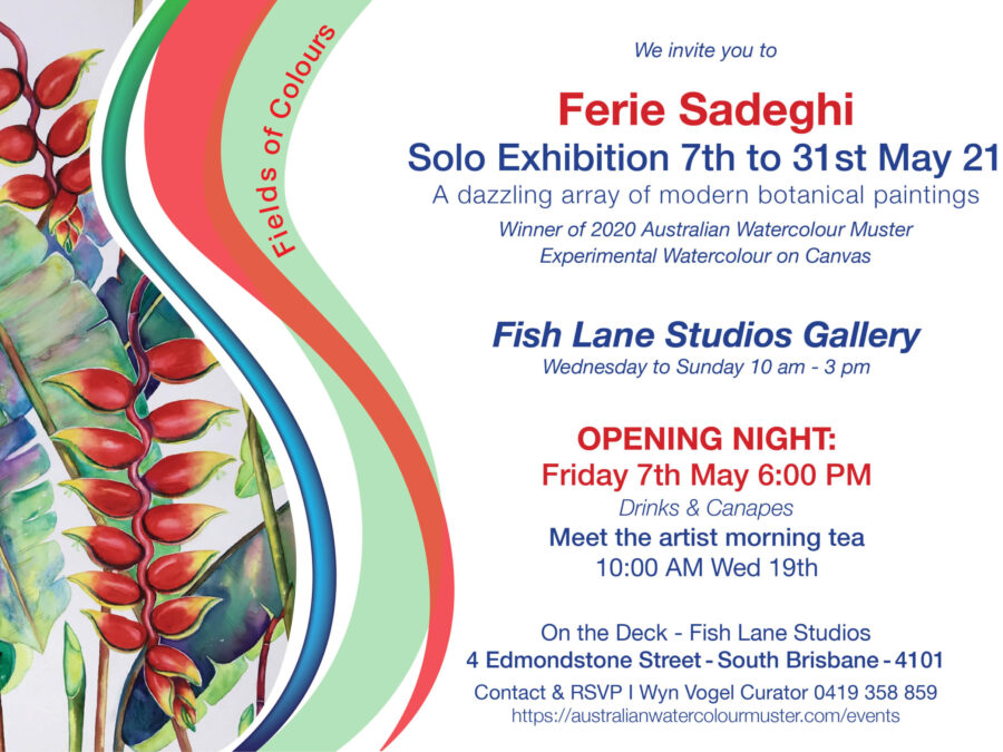 View Ferie Sadeghi - Solo Exhibition 'Field of Colours'