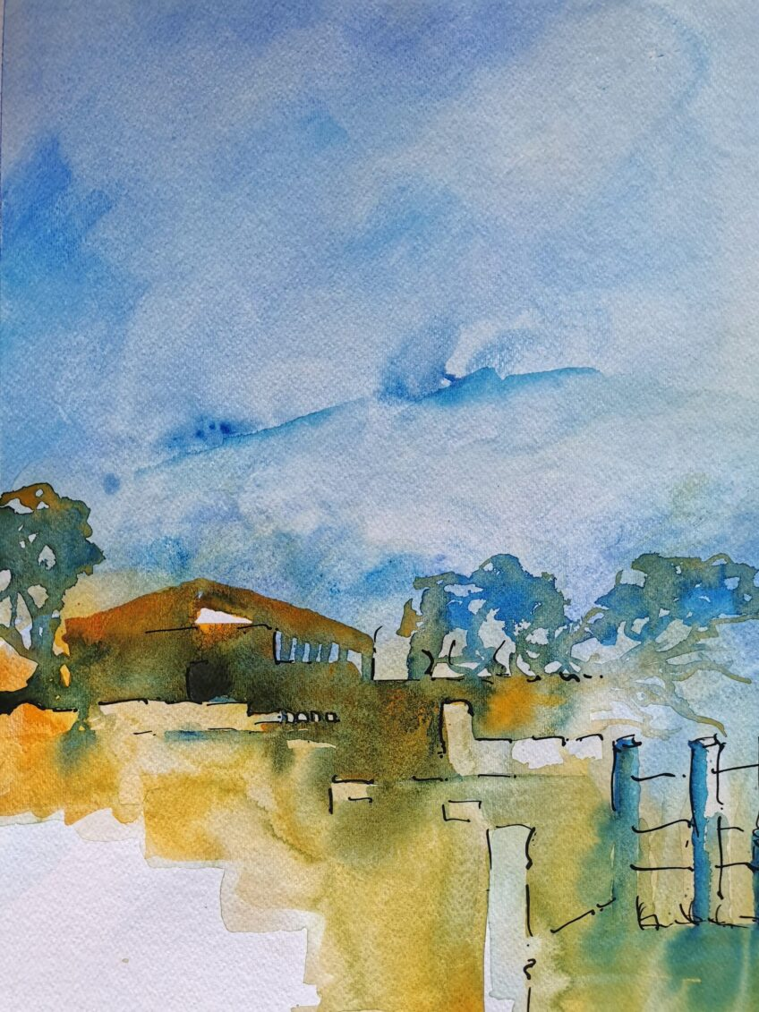 Eckersley's Art and Craft Gold Coast – Mist in the Valley – Watercolour Workshop 22nd June 2021 – with Artist – Wyn Vogel