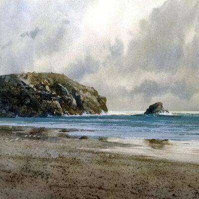 10. A Lonely Beach – Artist Julian Bruere – Watercolour