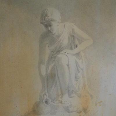 16. Statue Rendered – Artist Julian Bruere – Watercolour